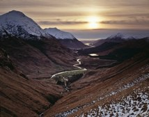Glen Etive from Path to Lairig Gartain thumbnail